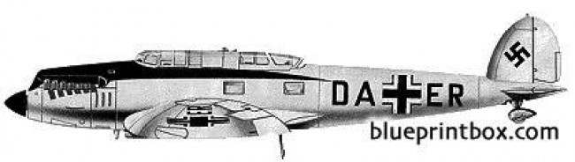 heinkel he 70f 2 blitz model airplane plan