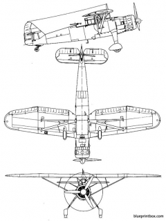 henschel hs 126 model airplane plan