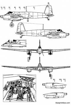 henschel hs 129a model airplane plan