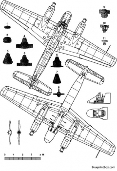 henschel hs 129a 2 model airplane plan