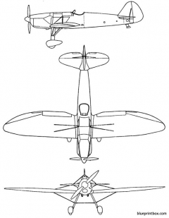 henschelhs 125 model airplane plan