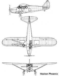 heston phoenix 3v model airplane plan