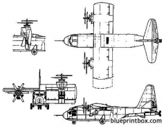 hiller x 18 experimental vtol transport model airplane plan