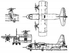 hiller x 18 experimental vtol transport model airplane plan