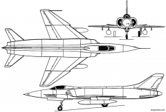 hindustan hf 24 marut 1961 india model airplane plan