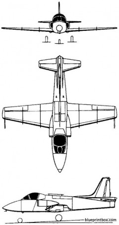 hindustan hjt 16 kiran 1964 india model airplane plan