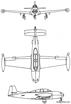 hispano ha200 saeta super saeta ha220 1955 spain model airplane plan