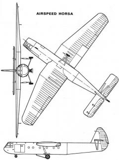 horsa 3v model airplane plan
