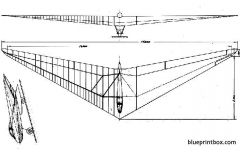 horten h ii model airplane plan