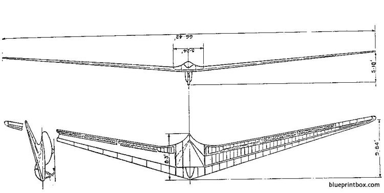 horten h iv model airplane plan
