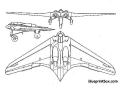 horten h ix model airplane plan