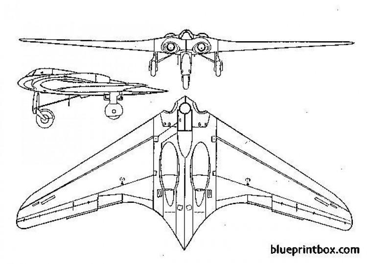 horten h ix model airplane plan