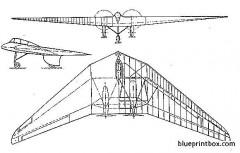 horten h v model airplane plan