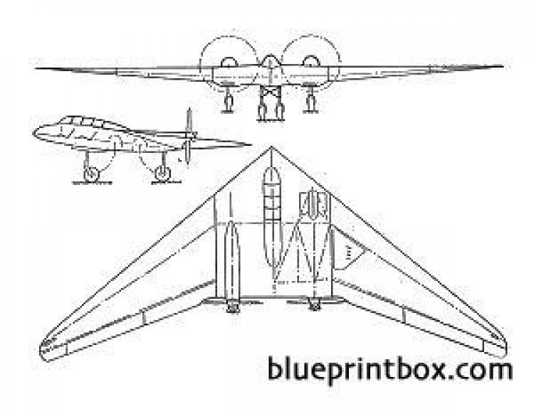 horten h vii model airplane plan