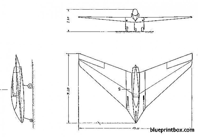 horten h x model airplane plan