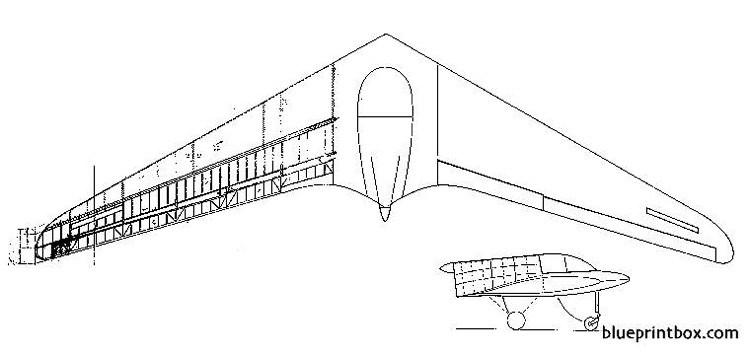 horten h xii model airplane plan