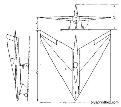 horten h xiii 2 model airplane plan