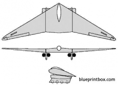 horten h xviii 2 model airplane plan