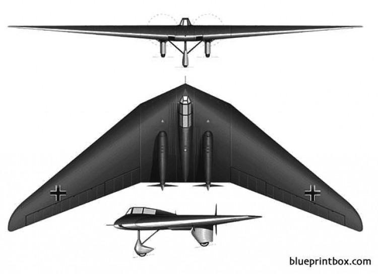 horten ho vc model airplane plan