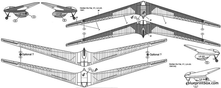 horten iva flying wing sailplane 1 model airplane plan
