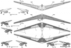 horten iva flying wing sailplane 2 model airplane plan