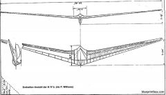 horten iva flying wing sailplane 3 model airplane plan