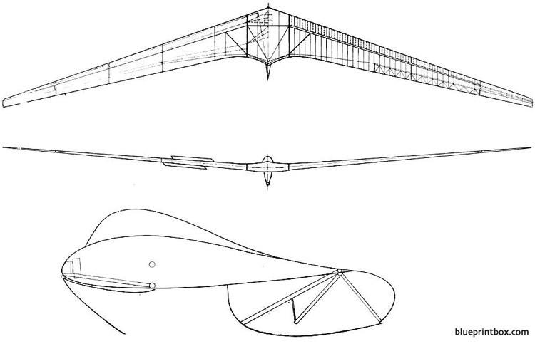 horten iva flying wing sailplane 4 model airplane plan