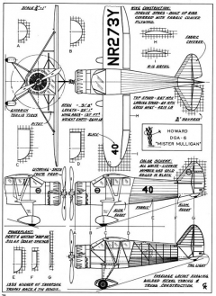 howard dga6 3v model airplane plan