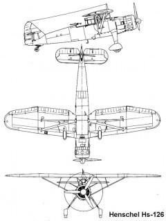 hs126 1 3v model airplane plan