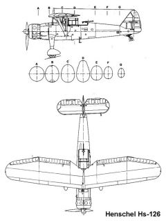 hs126 2 3v model airplane plan
