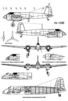 hs129b 1 3v model airplane plan