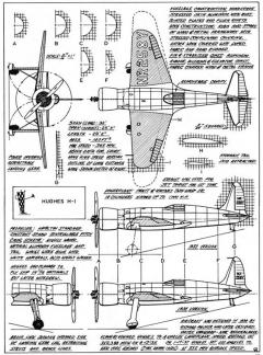 hughes h1 3v model airplane plan