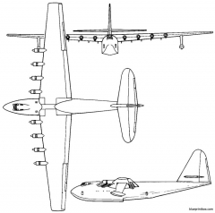 hughes h 4  hfb 1 hercules 1947 usa model airplane plan