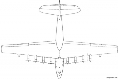 hughes hk  1 spruce goose 1 model airplane plan
