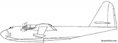 hughes hk  1 spruce goose 3 model airplane plan