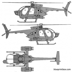 hughes md500 defender idf model airplane plan