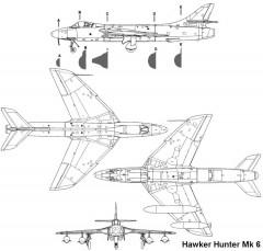 hunter 3v model airplane plan