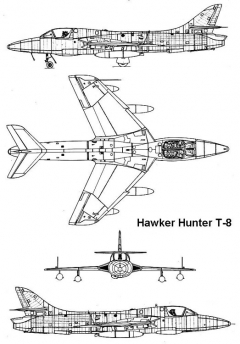 hunter t8 3v model airplane plan