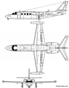 iai 1123 westwind model airplane plan