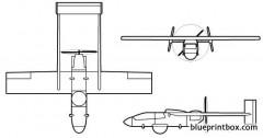 iai scout (uav) model airplane plan