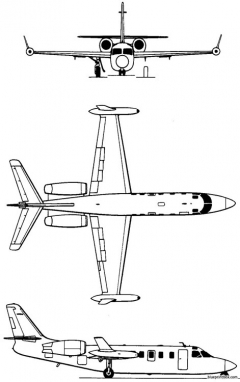 iai westwind 1963 israel model airplane plan
