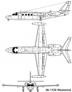 iai westwind 3v model airplane plan