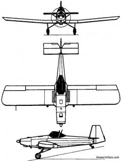 iar 822 1970 romania model airplane plan