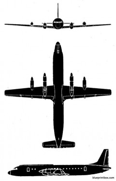 il 18 moskwa model airplane plan