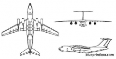 il 76 candid model airplane plan