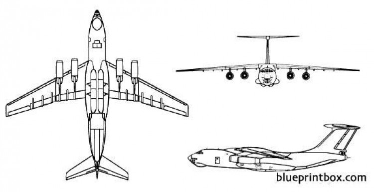 il 76 candid model airplane plan