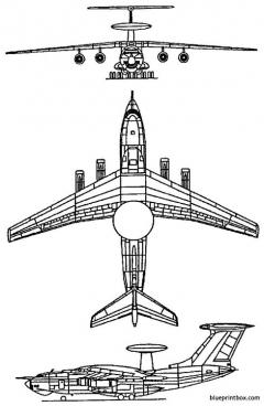 ilyushin berijev a 50 1984 russia model airplane plan