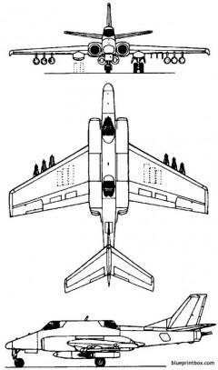 ilyushin il 102 1982 russia model airplane plan