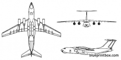 ilyushin il 76 candid model airplane plan