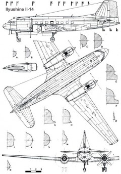 ilyushine14 1 3v model airplane plan